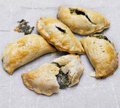 Cheese & spinach pasties recipe - Recipes - BBC Good Food  http://www.bbcgoodfood.com/recipes/2536660/cheese-and-spinach-pasties