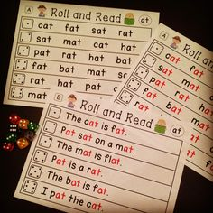 Word families center that kids love - roll and read!
