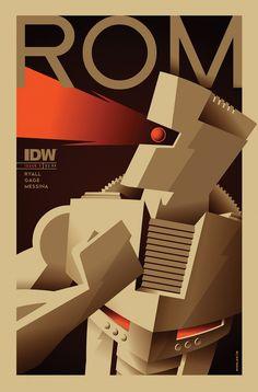 Rom # 1 (Variant Cover) Art by: Tom Whalen Marvel Comics Art, Marvel Comic Universe, Marvel Comic Books, Comics Universe, Comic Book Characters, Comic Book Heroes, Marvel Characters, Marvel Heroes, Tom Whalen