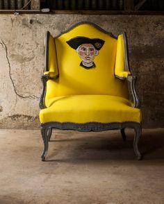 Portrait-chair. Artist Ira Yeager.