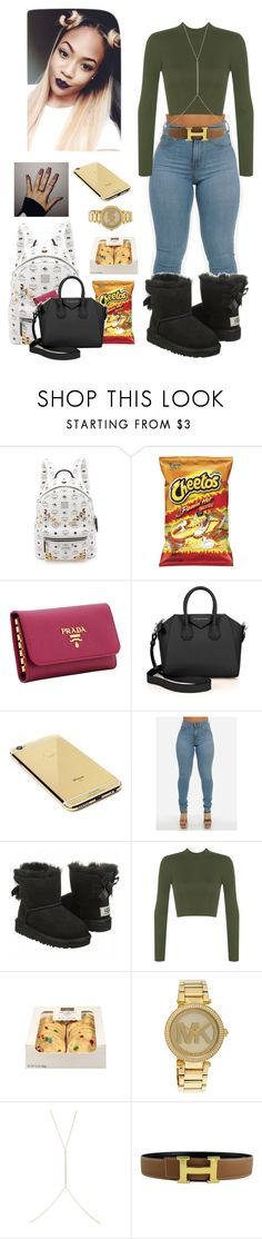 """Fall<3"" by anicolelauren ❤ liked on Polyvore featuring MCM, Prada, Givenchy, Goldgenie, WearAll, Michael Kors, Ileana Makri, Hermès, women's clothing and women's fashion"