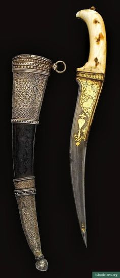 AN IVORY-HILTED DAGGER (PESHKABZ) WITH SILVER-MOUNTED SCABBARD, INDIA, 18TH-19TH CENTURY.