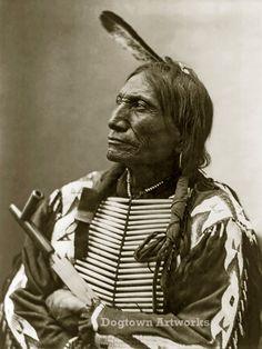 Broken Arm, Professionally Restored Vintage Native American Photograph Reprint…