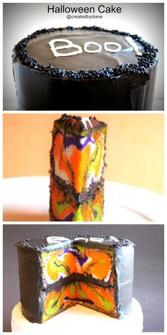 Halloween Cake @createdbydiane I love it when a cake has an unexpected surprise!