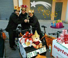 Los autenticos Reyes Magos 2017 van en cargo bike!  Www.urbanciclo.es - Tw: @urbancicloalba- f: Urban Ciclo - Instagram: @urbanciclo #urbanciclo #ecomensajeria  #Albacete #cargobike #bicimensajeria #bikemessengers #bullitteer #bullitt #bullittlife #messlife #bikecourier #transportesostenible