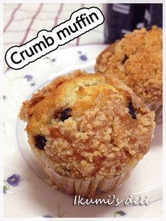 crumb muffin / アーモンドクラムのかりかりマフィン