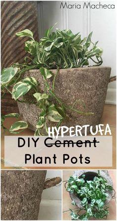MARIA'S DIY HYPERTUFA PLANT POTS | Grillo Designs