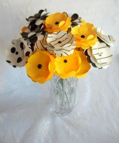 Daisy Paper Flowers Set of Twelve for making DIY by MyEverAfter, $25.00