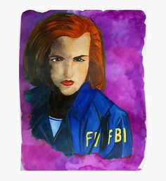 """Dana Scully FBI Purple "" Canvas Print by fairychamber Purple Canvas, Purple Art, Original Art, Original Paintings, Purple Palette, Dana Scully, Canvas Prints, Art Prints, Wall Art"