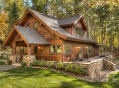 20 Ravishing Rustic Home Exterior Designs You Will Obsess Over - Rustique Rustic Home Design, Cabin Design, Home Design Plans, Modern House Design, Rustic Houses Exterior, Exterior Windows, Cabin In The Woods, Cabins And Cottages, Cool House Designs