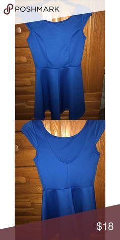 Royal blue skater dress Rarely worn, beautiful color, well made dress, very beautiful! Snap Dresses Mini