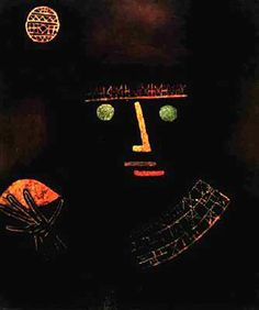 Caballero Negro. 1927. Obra de Paul Klee