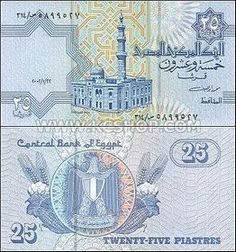 P-57d / P57d Egypt 2002 25 Piastres Unc - Egyptian Currency