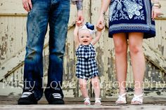 family...all of us' feet, plus Joey in the middle, like this (3 generation picture)