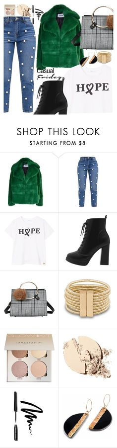 """""""Friday Look"""" by seventeen-0 ❤ liked on Polyvore featuring MSGM, MANGO and Bobbi Brown Cosmetics"""