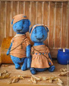 Sweet couple of Teddy Bears / Плюшевые очаровашки! Тедди мишки Рауль и Мишель — работа дня на Ярмарке Мастеров.  Узнать цену и купить: http://www.livemaster.ru/fairy-store