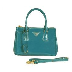 £131.00 Real Prada Saffiano Patent Calfskin Leather Tote Bag Bn2316 Green Online Outlet