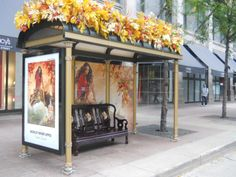 Absolut Orient Wrapped Bus Shelters