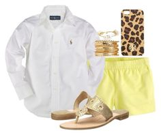 """""""Untitled #674"""" by preppygirl13 ❤ liked on Polyvore featuring J.Crew, Ralph Lauren, Jack Rogers, Tory Burch and Bourbon and Boweties"""