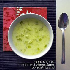 zupa serowa z porem i ziemniakami