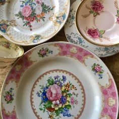 5 pc Vintage Mismatched Fine China Place setting Pink ROSES Dinnerware, Sadek...  | eBay