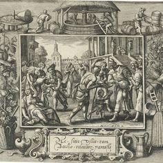 De dorstigen laven, Crispijn van de Passe (I), after Maerten de Vos, 1580 - 1588 - Rijksmuseum