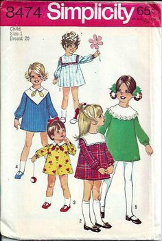 Simplicity 8474 Toddler Girls Dress with by DawnsDesignBoutique, $8.99