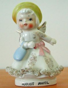 Vtg Norcrest Fine China Japan F-120 August Angel Great Gift GUC
