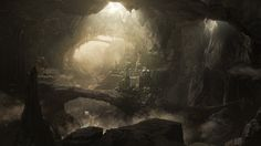 matte painting - cave city - MattePainting.Org