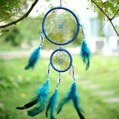 Other Home Decor Car Blue Dream Catcher Circular Net With Feather Wall Hanging Decoration Shell & Garden Wicker Shelf, Wicker Table, Wicker Furniture, Wicker Dresser, Wicker Trunk, Wicker Mirror, Wicker Planter, Wicker Sofa, Wicker Baskets