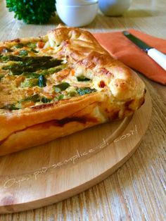 Rustico+asparagi+e+salmone,+ricetta+semplice+e+saporita Vegetable Pizza, Nutella, Vegetables, Food, Essen, Vegetable Recipes, Meals, Yemek, Veggies