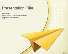 Aircraft Paper PowerPoint Template with aircraft paper style is a Free…