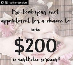 Make sure you pre-book your appointment(s) with me!!! Take advantage of this AWESOME DEAL!!! #Repost @splitendssalon ・・・ L I M I T E D • T I M E • O F F E R !!! Pre-book your next appointment with YOUR Stylist for a chance to win $200 worth of services with our aesthetician, Alexa! #ashliatsplitendssalon #splitendssalon #severnapark #maryland #annapolis #baltimore #marylandsalon