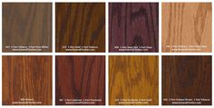General Finishes Pro Floor Stain® Color Swatch / Chart for Hardwood Flooring Wood Floor Stain Colors, Types Of Wood Flooring, Floor Colors, Hardwood Floors, Stain Wood, Oak Floor Stains, Paint Color Swatches, Red Paint Colors, Red Floor