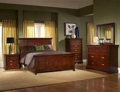 Glamour Espresso Wood Metal Glass Master Bedroom Set