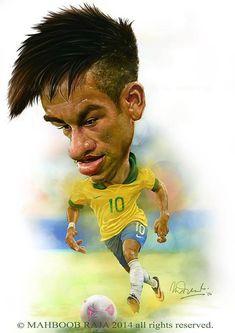 Caricatura de Neymar Jr - www.ideo-gene.net - Générateur d'Optimistes Pragmatiques