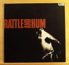 U 2 Rattle and Hum Vinyl 2-LP - Helter Skelter Desire Pride Angel of Harlem RARE