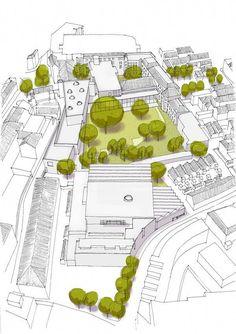 Museumkwartier 's-Hertogenbosch van BiermanHenket architecten | TIVK #urbanlandscapearchitecture