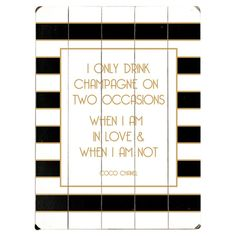 Showcasing chic stripes and a whimsical text motif, this plank-style wall decor adds fashion-forward charm to your living room or home bar. ...