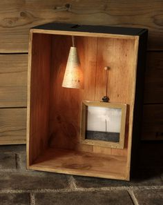 HANDMADE Photo Lightbox #213 _ Made in December 2014 | Wood winebox + Handmade framed photo + OLD paper lamp + light DIMMER | You can find it at ETSY.COM | $190 USD / 150 Euros