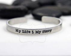 semi colon bracelet on Etsy, a global handmade and vintage marketplace.