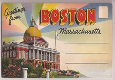 Vintage Boston Souvenir