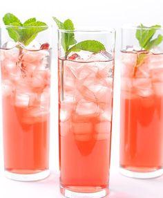 hibiscus mint iced tea