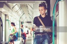 Stock Photo : Hipster in the city
