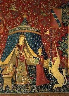 """La Dame à la licorne  """" A mon seul désir  Paris (cartons), Pays Bas (tissages) Entre 1484 et 1500 Laine et soie  Музей Клюни"""
