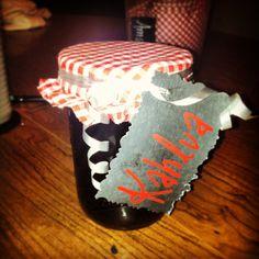 Homemade Kahlua in Mason jars for Christmas gifts :)