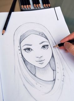 Excellent Drawing Faces With Graphite Pencils Ideas. Enchanting Drawing Faces with Graphite Pencils Ideas. Girl Drawing Sketches, Girly Drawings, Art Drawings Sketches Simple, Pencil Art Drawings, Drawing Faces, Princess Drawings, Drawing Drawing, Beautiful Drawings, Drawing Ideas
