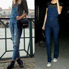 Fim de semana pede um estilo super casual com macacão jeans, que tal?! Vem pro blog www.comestilounico.com.br