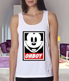 ohboy mickey mouse clothing tank tanktop custom Women by Gloriia, $20.00