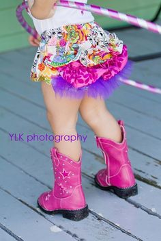 Pink little girl cowboy boots...adorable